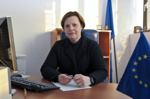 J. Vachter à son bureau à Pristina