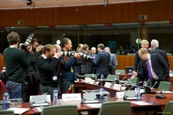 Une réunion exceptionnelle très médiatisée (crédit : Conseil de l'UE)