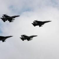 Les F16 belges en Lituanie lors de l'opération de police du ciel en 2013 (crédit : armée belge)