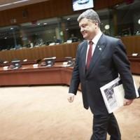 La présence du président ukrainien Porochenko, désormais une tradition quand on parle d'Ukraine (crédit : Conseil de l'UE)