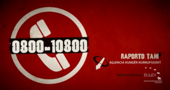 Extrait d'une campagne soutenue par EULEX contre la corruption en juillet 2012 (crédit : EULEX Kosovo)