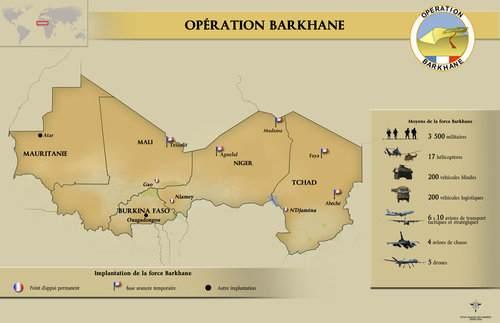 Carte Oper Barkhane