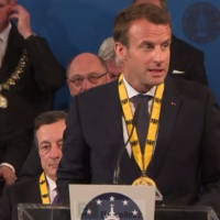 Prix Charlemagne. Une seule solution : l'action, un seul moyen : l'unité (Macron)