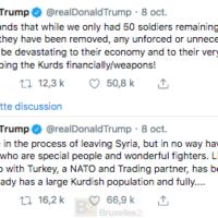 L'Union européenne appelle la Turquie à mettre fin à son intervention en Syrie. L'OTAN bafouille. Donald Trump s'embrouille.